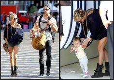 Chris Hemsworth y su esposa Elsa Pataky de paseo con su hija India  Crédito: AKM-GSI