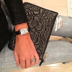 Clutch night #Chanel #Cartier #Bulgari #denim by tashsefton