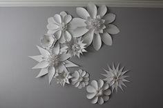 white paper flowers nursery decoration large flowers