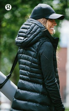 Down For It Vest. All the fluff without the puff???this lululemon down vest was designed to keep you warm when the temperature drops.