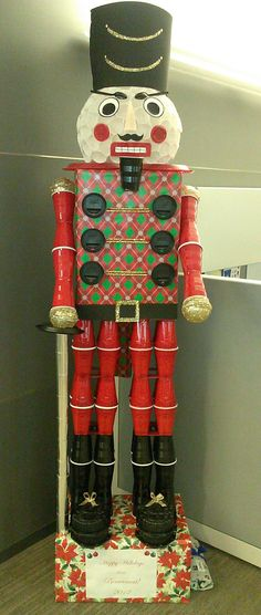 8' tall Nutcracker created with Solo Cup products.