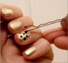 Use a bobby pin to make polka dots on your nails.