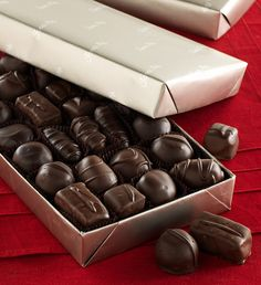 #FMChocolates Assorted Dark Chocolates in platinum wrap $24.99