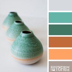 Pottery Pots #patternpod #patternpodcolor #color #colorpalettes paleta de cores / potes