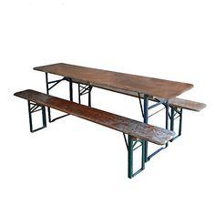 Beer Garden Table & Bench, #amodernthanksgiving