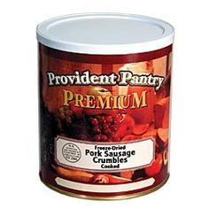 Freeze-Dried Pork Sausage Crumbles  favorite preparedness item from Emergency Essentials, $39.95