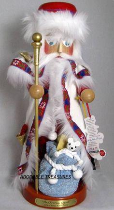 2010 SIGNED STEINBACH *NORDIC SANTA* NUTCRACKER, 17TH CHRISTMAS LEG SERIES, NIB