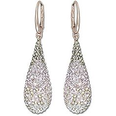 Swarovski Abstract Nude Pierced Earrings $125.00