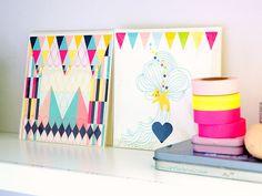 Tape and Decorative Cards - illustrations by Anna Pernilla (by Artoleria) anna pernilla, diy art, artworks, colors, tape art, display, washi tape, decor card, cards