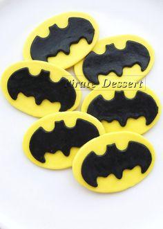 Edible Cupcake Toppers BAT MAN Logo -  Iconic Super Hero decorations, Bat Man Cupcake - COMIC BooK Cupcakes (12 pieces). $28.00, via Etsy.