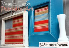 patriotic washi tape art
