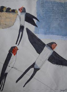 barn swallows by Jenny McCabe
