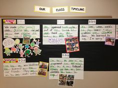 "Our Class Timeline:  A Meaningful ""Share the Pen"" Activity  {From Creating Readers and Writers Blog}. Chronological order"