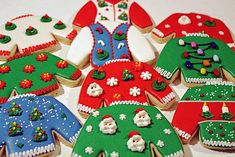 Cookies for an Ugly Sweater Christmas Party