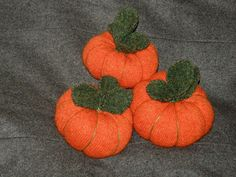Felted Orange pumpkin pin Cushion using orange sweater hand sewn by mcleodhandcraftgifts,