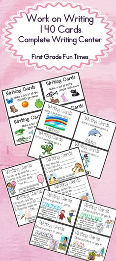 Work on Writing Cards - 140 cards $ Best Selling Item! $