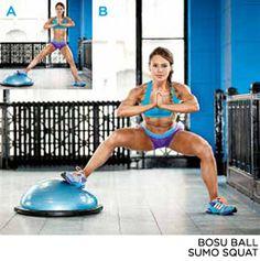 Bodybuilding.com - The Secret To Gorgeous Glutes -EXERCISE 3// BOSU BALL SUMO SQUAT