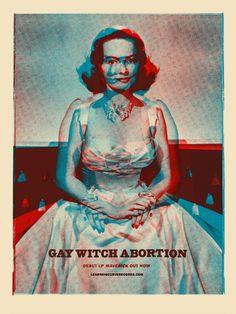 ::Tutoriais Photoshop::: Inspiração, Cartazes de Rock: Gay Witch Abortion.