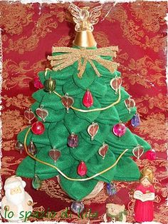 My tutorial to create a little XMas tree with felt, needle and thread...