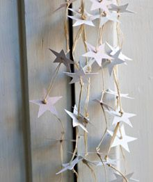 holiday, diy home decor, paper stars, design homes, star garland, christmas decorations, white, head start, christmas stars