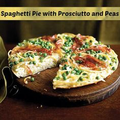 Yes, you read that right. Spaghetti pie!