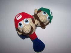Mario Baby Rattle PDF Pattern by mama24boyz on Etsy, $4.00