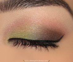 Green + pink eyeshadow = springy and unexpected!