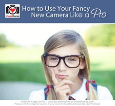 Got a new camera?  Learn how to get started using it so you can take photos like the pros!  Photography Tips via iHeartFaces.com