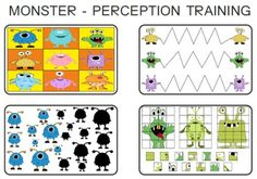 Printable Monster perception training activities from the American Dyslexia Association- Shadow matching, tracing, and more.