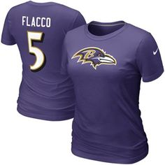 Check out the latest Ravens gotta haves..  http://www.fanatics.com/NFL_Baltimore_Ravens_Ladies/Nike_Joe_Flacco_Baltimore_Ravens_Number_5_Womens_Name_And_Number_T-Shirt_-_Purple/partnerid/3434