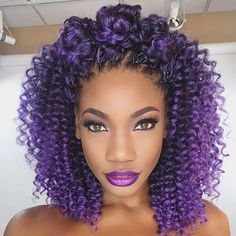 purple crochet natur