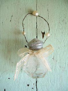 Glass Salt Shaker Ornament