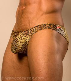 Leopard print mens swimwear from Cocksox®  http://www.cocksox.com/products/swim_brief_leopard#