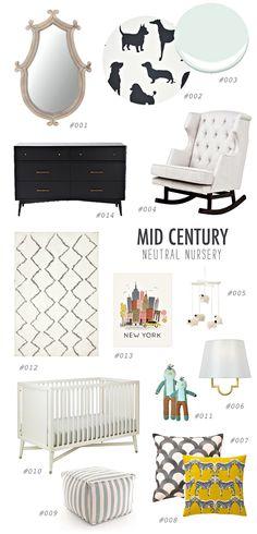 #neutral #midcentury #nursery