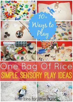 Easy Rice Sensory Play Around The house