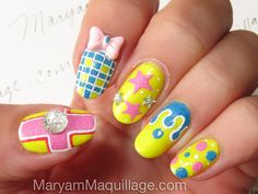 Bright, Textured & Happy -- 3D Nail Art!