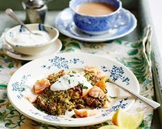 Courgette fritters with smoked salmon - perfect for brunch