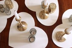 DIY White Leather Heart Placemats