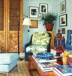 peter dunham fig leaf chair, seagrass rug