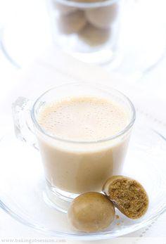 Caramel Eggnog with Tiny Spice Cookies
