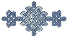 Celtic knot cross stitch