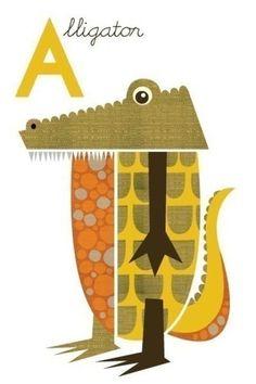 small giclee alligator print (item no. p-2008-4)