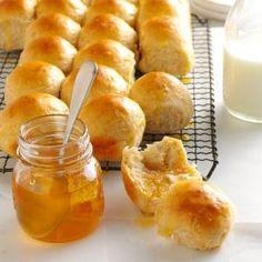 Honey-Oat Pan Rolls Recipe from Taste of Home -- shared by Arlene Butler of Ogden, Utah