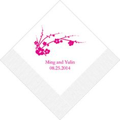 cherry blossom napkins as low as $9.58, cherry blossom wedding favors, cherry blossom wedding decorations, wedding table decorations