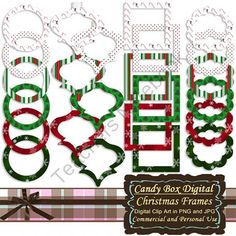 Festive Christmas Digital Frame Clip Art from Candy Box Digital on TeachersNotebook.com -  (48 pages)  - Snow, candy canes, Christmas trees and traditional colors make these 24 wonderful digital frames great for accenting all those special Christmas, holiday and winter pictures!