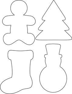 christmas crafts, christma cooki, christmas templates, printable templates, christmas felt template, templat printabl, christmas trees, templates printable, christmas tag template