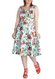 Floral to Fawn Over Dress in Plus Size, #ModCloth  Plus Size