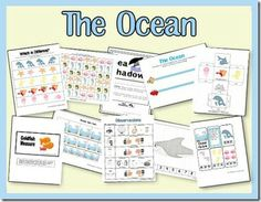 The Ocean preschool pack by 2 Teaching Mommies. FREE. Some applicable for early elementary and early preschool. Abcedarians.