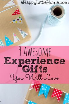 Experience gifts can