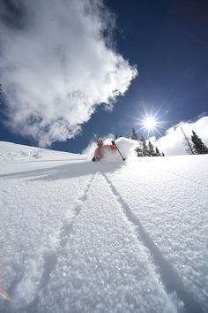 Utah skiing. Wish I had looked this good when I was skiing. I was closer to a newborn giraffe learning to ice skate